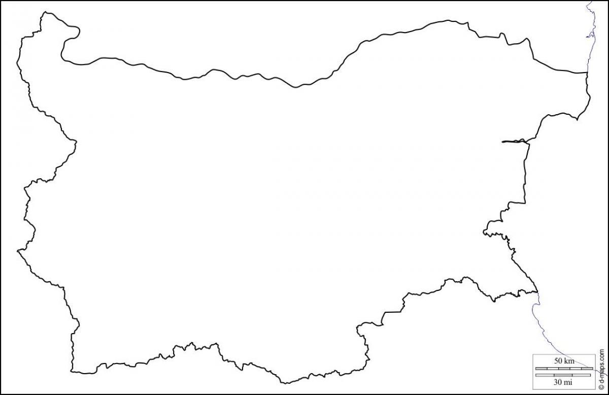 Bolgariya Karta Shema Karta Bolgarii Karta Kontur Vostochnaya